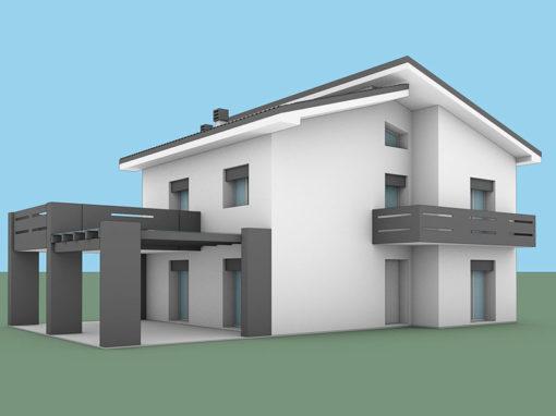 Casa ristrutturata 2 piani anni '60